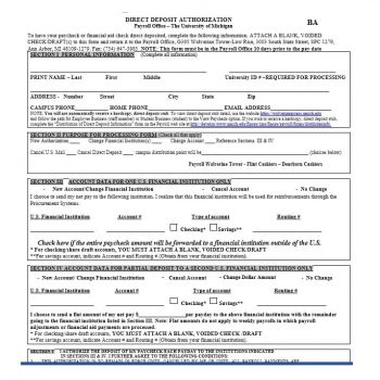 Direct Deposit Authorization Form 06