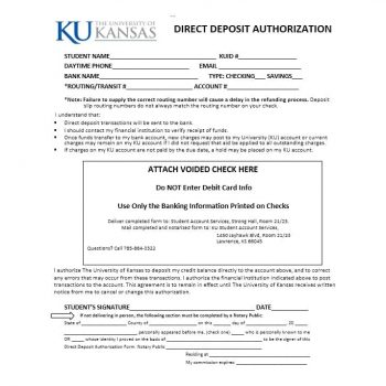 Direct Deposit Authorization Form 07