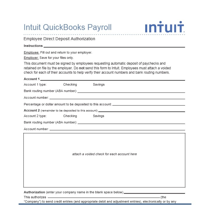 Direct Deposit Authorization Form 10