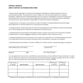 Direct Deposit Authorization Form 12
