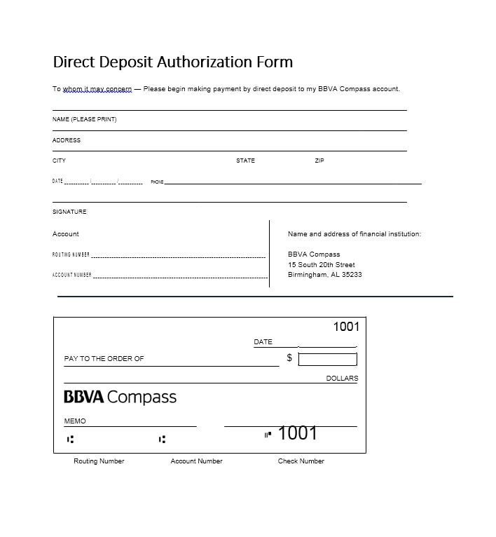 deposit form example  8 Direct Deposit Authorization Form Templates - Template ...