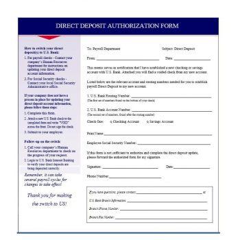 Direct Deposit Authorization Form 16