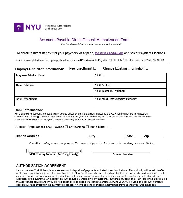 Direct Deposit Authorization Form 23