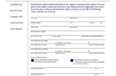 Direct Deposit Authorization Form 29