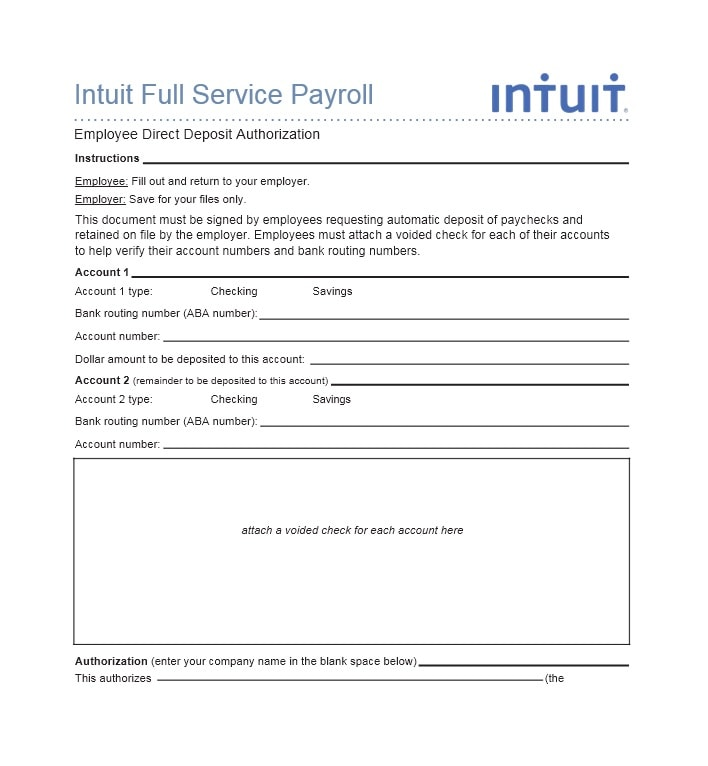 direct deposit form employer  14 Direct Deposit Authorization Form Templates - Template ...