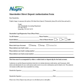Direct Deposit Authorization Form 37
