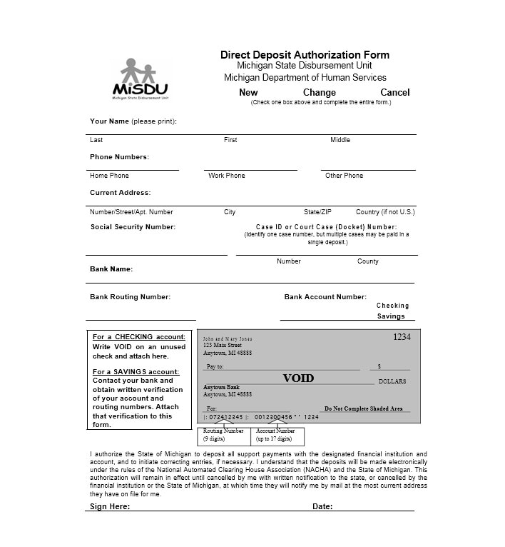 Direct Deposit Authorization Form 39