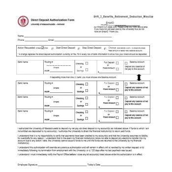 Direct Deposit Authorization Form 42