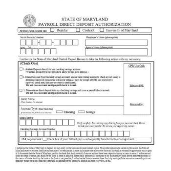 Direct Deposit Authorization Form 44