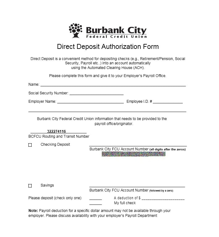 Direct Deposit Authorization Form 46