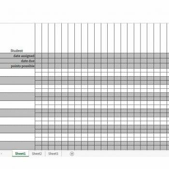 Grade Book template 22