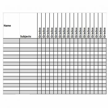 Grade Book template 25