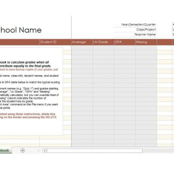 Grade Book template 28