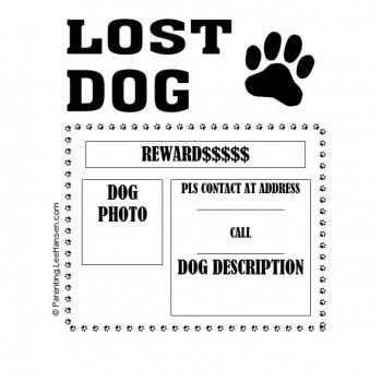 Lost Dog Flyer Template 26