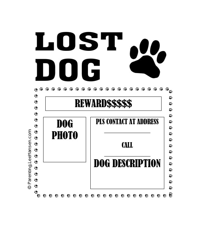 Nice Lost Dog Flyer Template 26 On Lost Pet Template
