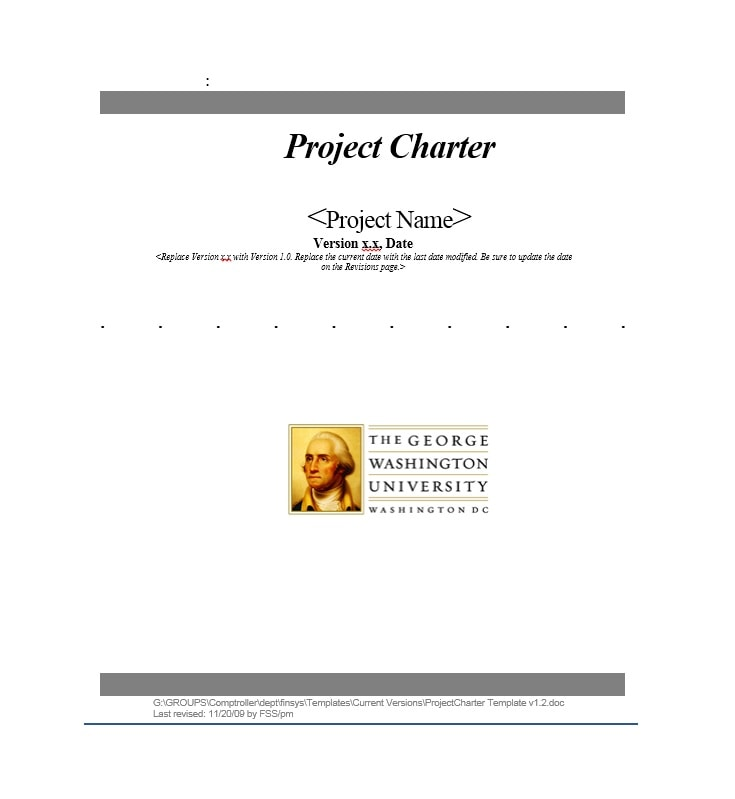 Project Charter Template 08