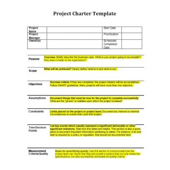 Project Charter Template 19