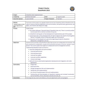 Project Charter Template 24