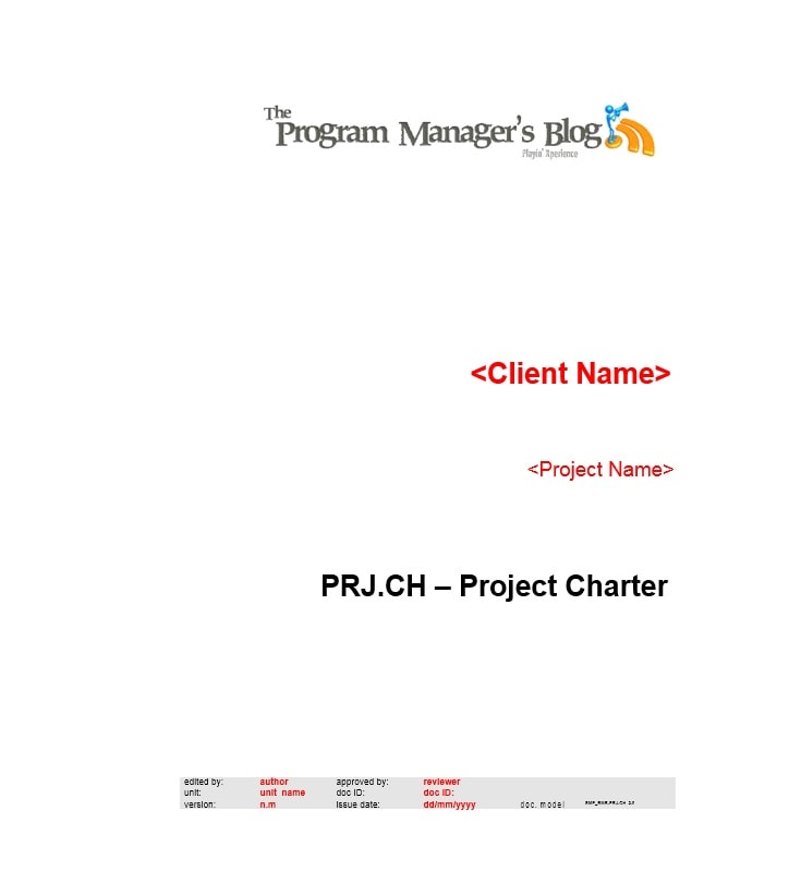 Project Charter Template 27