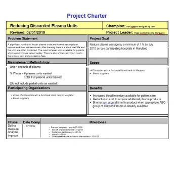 Project Charter Template 28