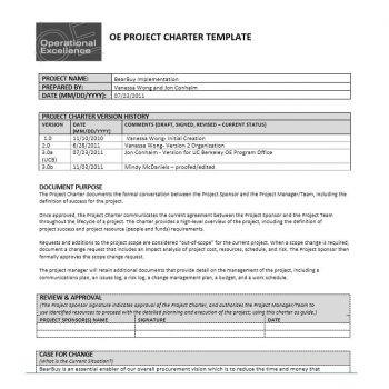 Project Charter Template 29