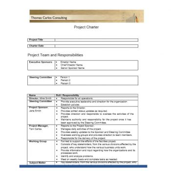 Project Charter Template 30