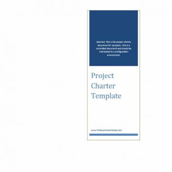 Project Charter Template 37