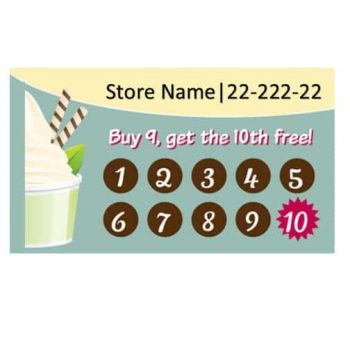 Punch Card Template 01