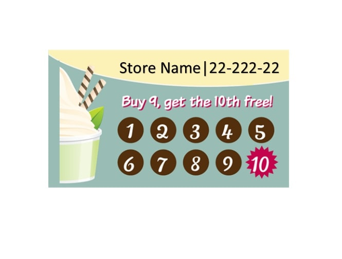 image relating to Free Printable Punch Card Template titled 30 Printable Punch / Profit Card Templates [101% Cost-free]