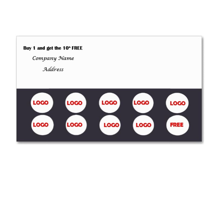 Punch Card Template 02