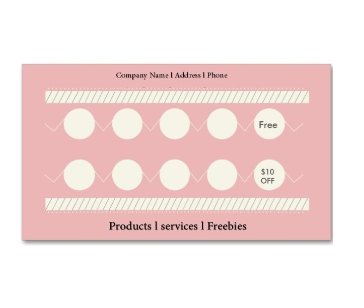 Printable Punch Reward Card Templates Free - Free printable loyalty card template