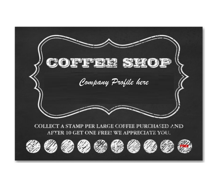 photo about Free Printable Punch Card Template titled Small business Punch Card Template No cost Arts - Arts