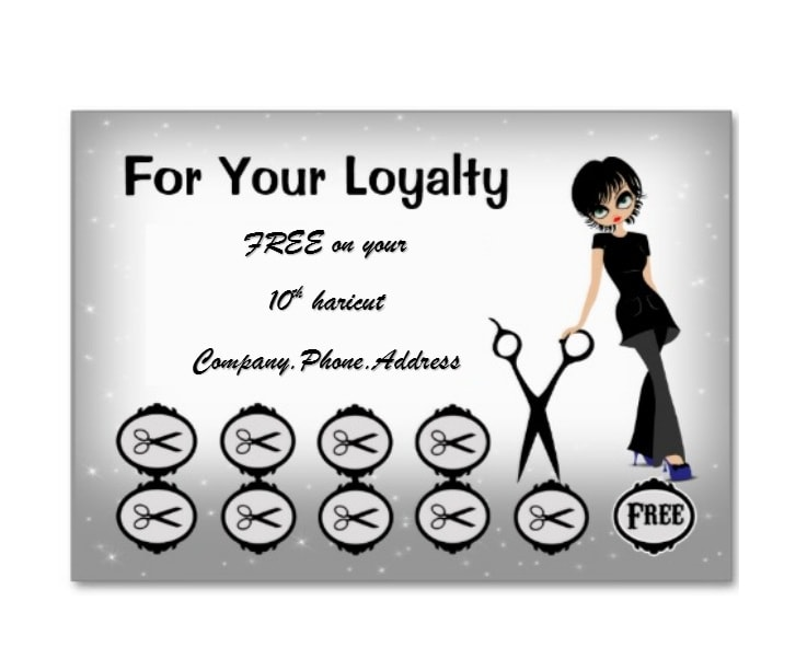 Printable Punch Reward Card Templates Free - Loyalty punch card template