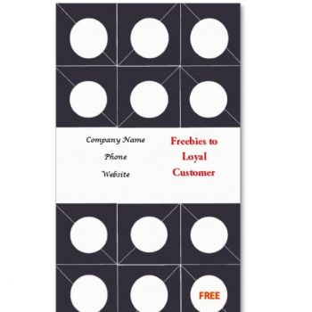 Punch Card Template 09