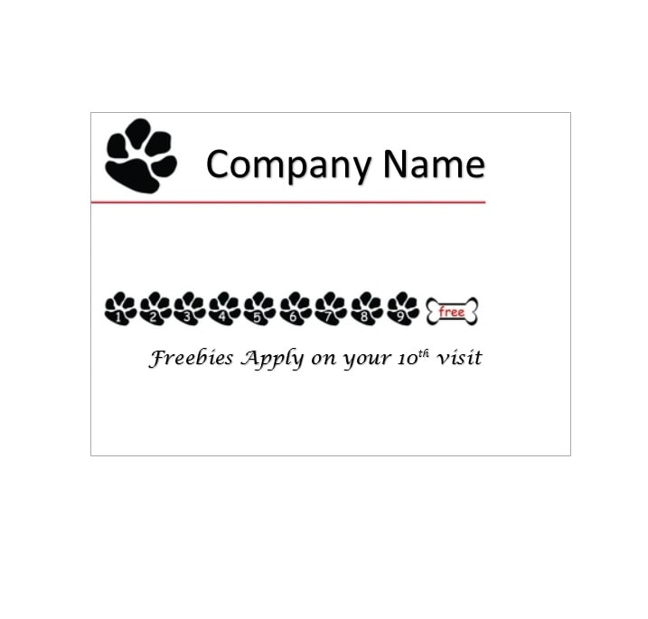 Punch Card Template 11