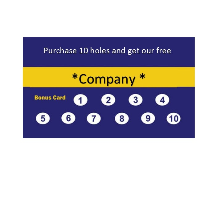 Punch Card Template 14