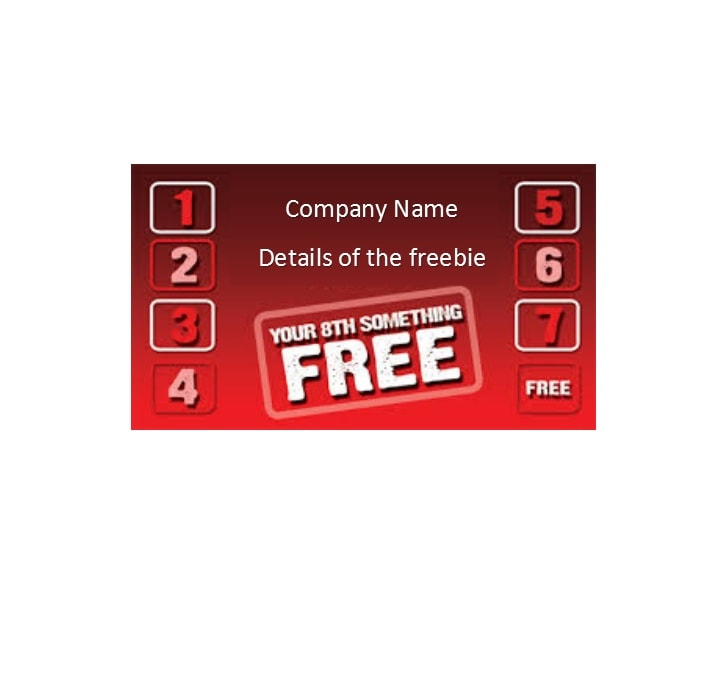 Printable Punch Reward Card Templates Free - Loyalty card template