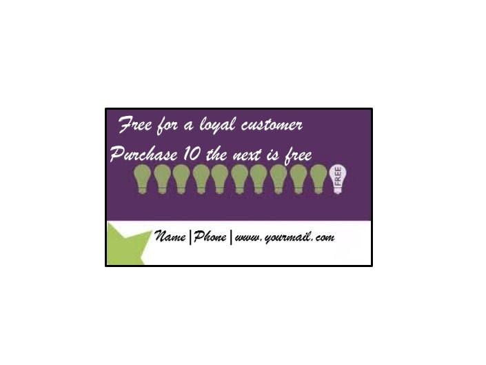Printable Punch Reward Card Templates Free - Reward punch card template