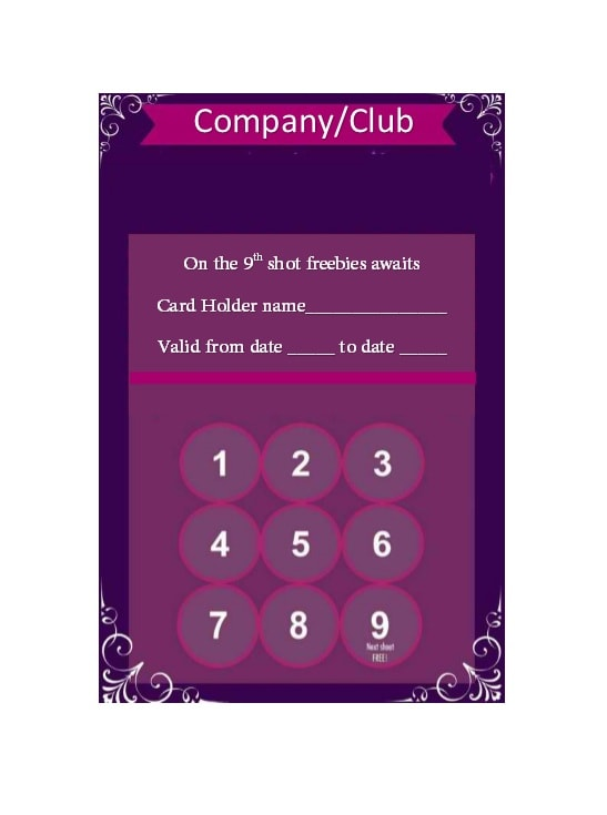 Punch Card Template 26