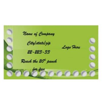 Punch Card Template 28