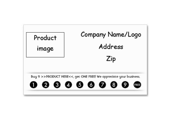 graphic relating to Free Printable Punch Card Template identified as 30 Printable Punch / Profit Card Templates [101% Absolutely free]