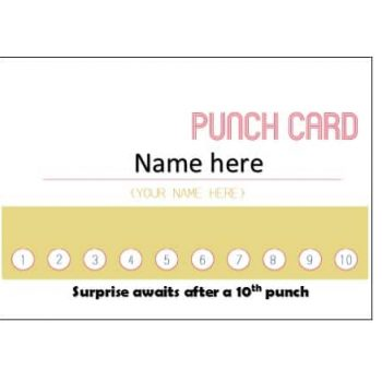 Punch Card Template 30