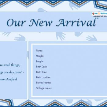 Birth Announcement Templates Cards Ideas  Wording