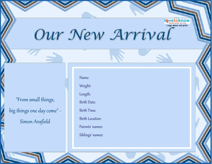 free online birth announcement templates - 46 birth announcement templates cards ideas wording