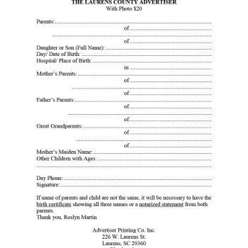 birth announcement template 10