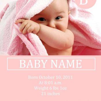 birth announcement template 11