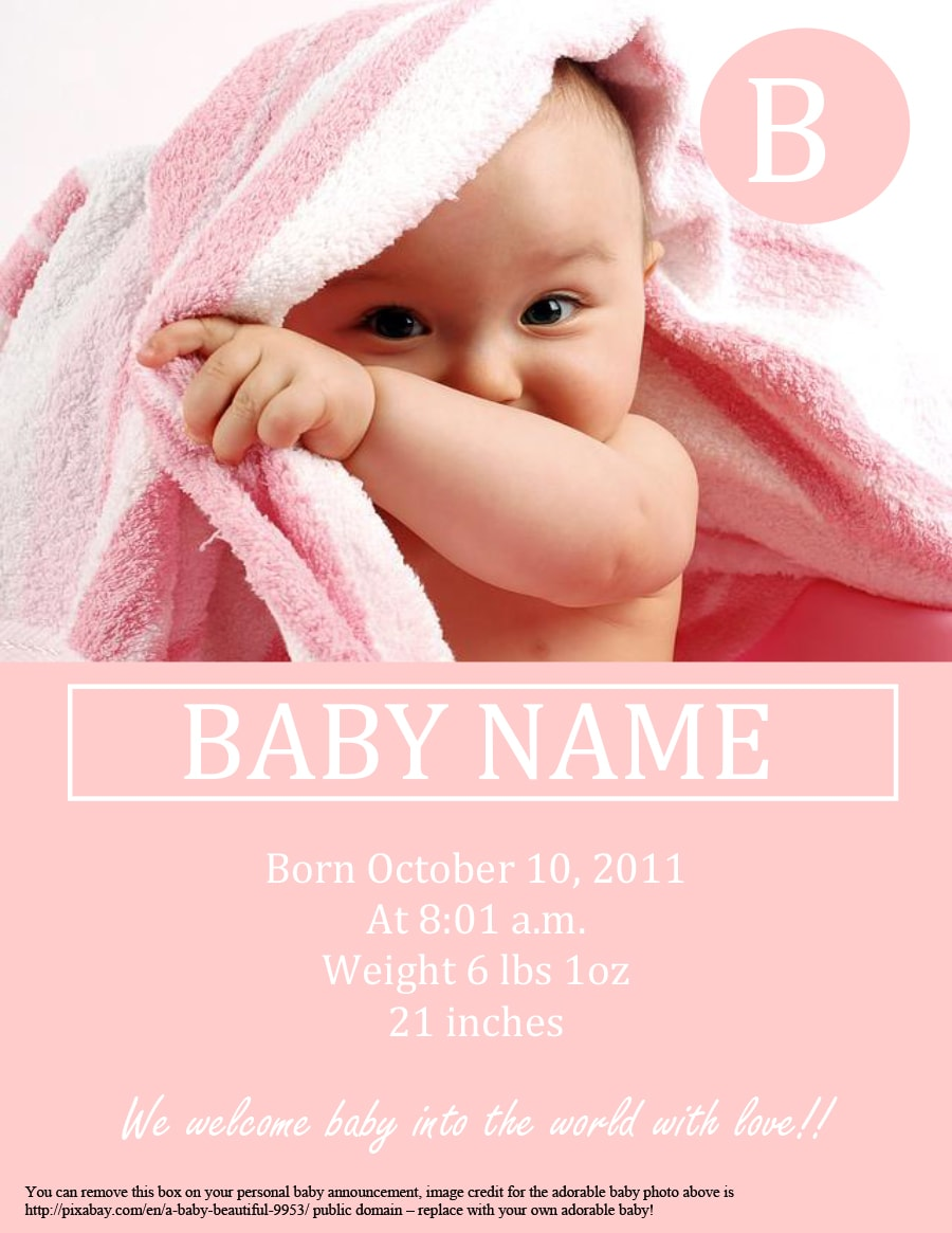 46 birth announcement templates  cards  ideas  u0026 wording