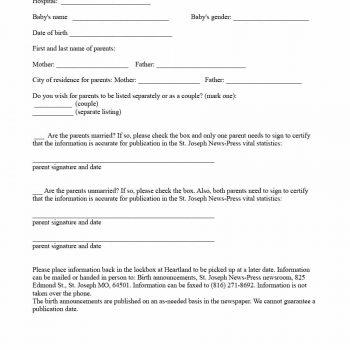 birth announcement template 14