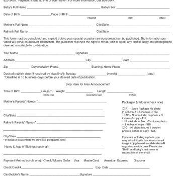 birth announcement template 16