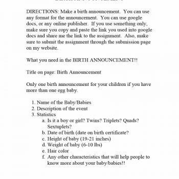 birth announcement template 21